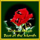 Art Rose Award Best of the Month Award