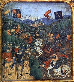 Battle of Agincourt. MS Detail