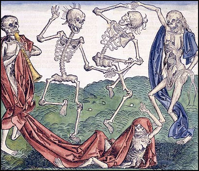 Dance of Death Coloured Woodcut