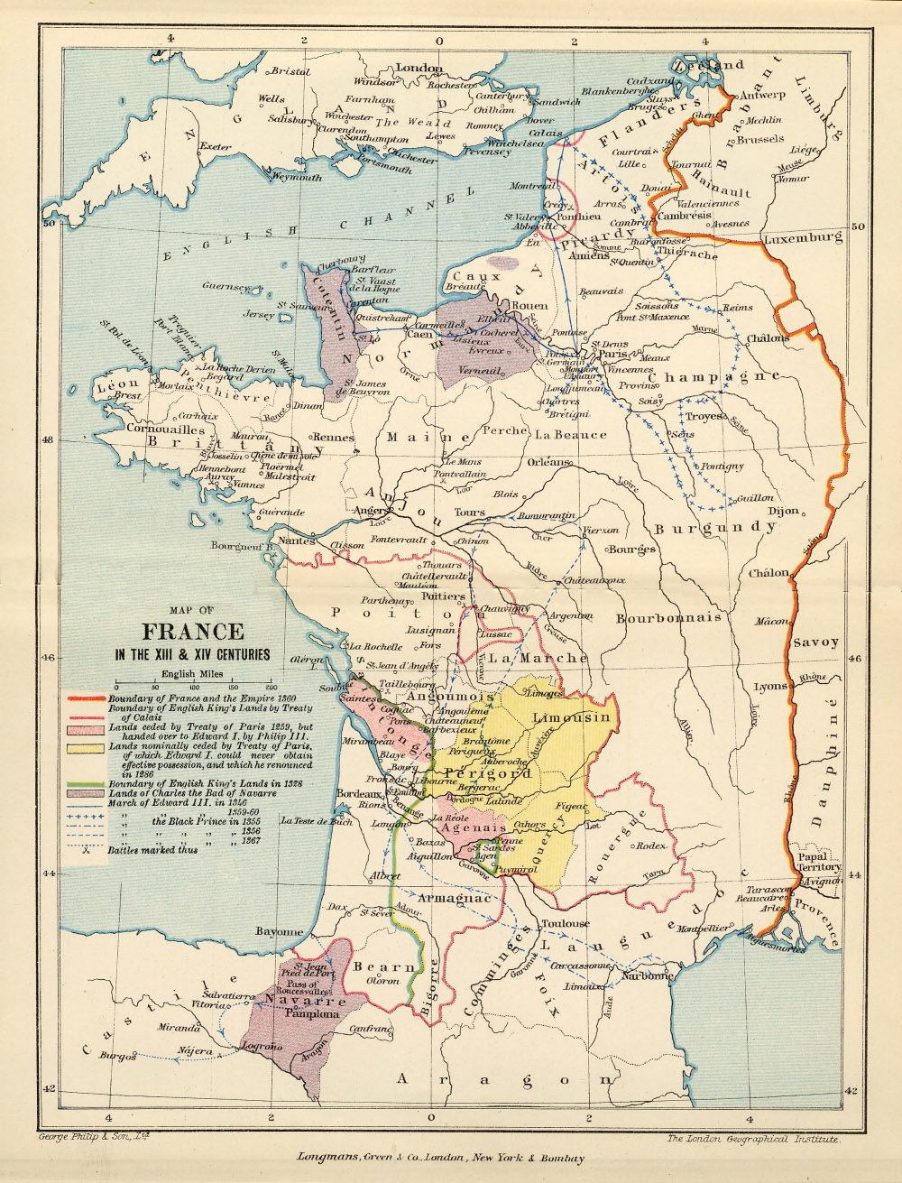 Map Of England To France.The Hundred Years War 1337 1453 100 Years War
