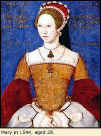 Mary in 1544, aged 28