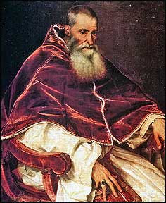 Pope Paul III (1468-1549); Pope from 1534 to 1549.