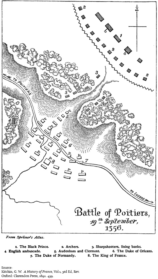 The Battle of Poitiers September 19 1356 Hundred Years War