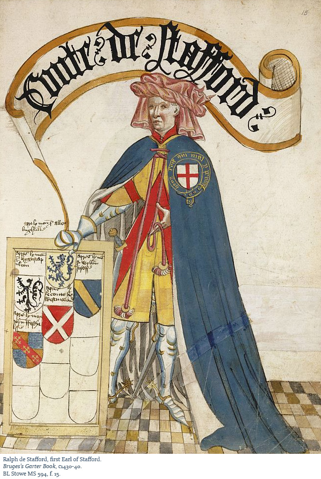 Ralph de Stafford, 1st Earl of Stafford from the Bruges's Garter Book