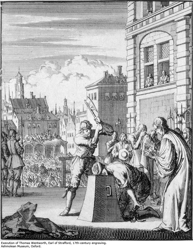 Why did the English execute king charles I?