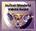 JoyZine's Wonderful Website Award