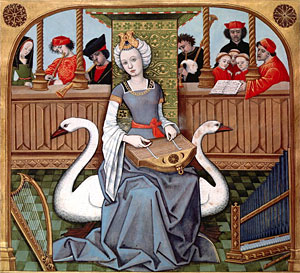 Allegory of Music, from 'Les Echecs Amoureux', c.1500