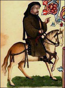 Chaucer Portrait from the Ellesmere Manuscript