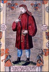 Chaucer portrait from Cambridge MS GG.4.27