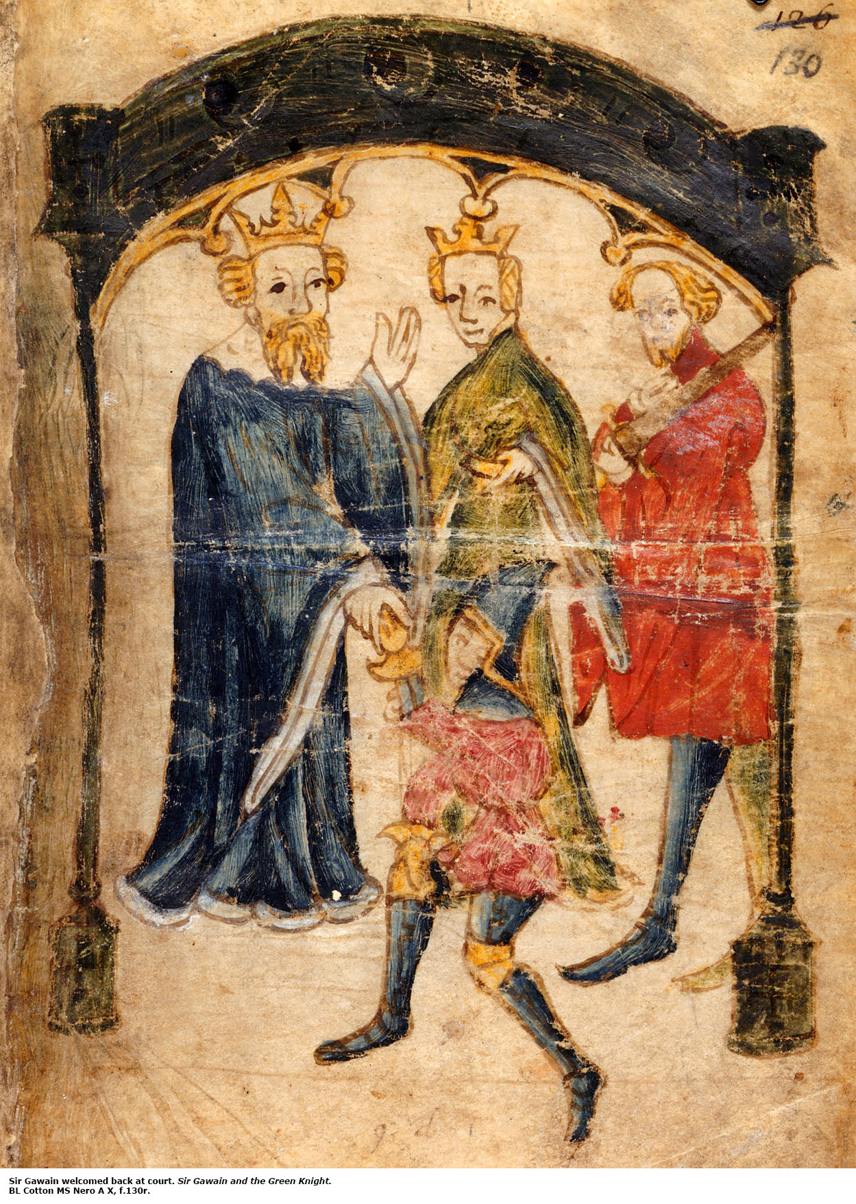 sir gawain and the green knight web resources sir gawain returns to king arthur s court british library ms cotton nero a x