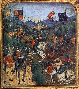 Manuscript illumination of the Battle of Agincourt