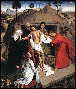 Rogier van der Weyden. Entombment. 1450