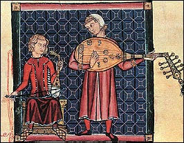 Unknown Spanish Artist: Minstrels with a Rebec & a Lute