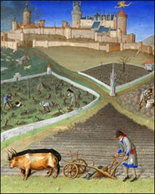 Plough with Oxen, from the Hours of Duc de Berry