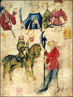 Manuscript Image of Sir Gawain and the Green Knight
