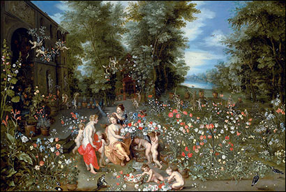 Jan Brueghel, the Younger. Allegory of Spring, c1640?