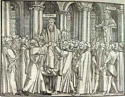 The arrest of Thomas Cranmer during Cole's sermon in St. Mary's church