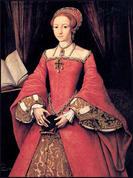 Queen Elizabeth I, c1546, by William Scrots.