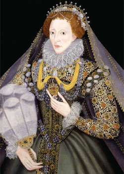 Queen Elizabeth I with a fan, Bristol Museums