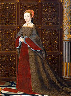 Detail of Princess Elizabeth from 'The Family of Henry VIII'