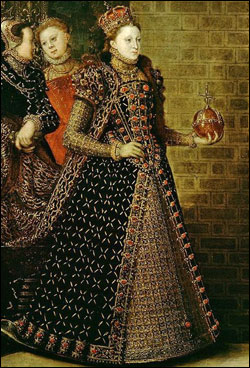 Detail of Elizabeth I and the Three Goddesses, 1569