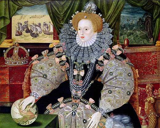 The Armada Portrait of Queen Elizabeth by George Gower, c. 1588