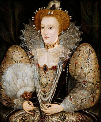 Queen Elizabeth with a Fanc. 1590.