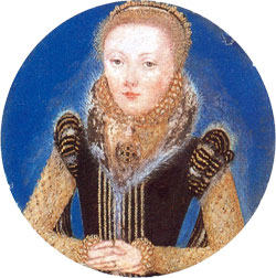 Miniature Portrait of Queen Elizabeth I c. 1565. attr. to Levina Teerlinc
