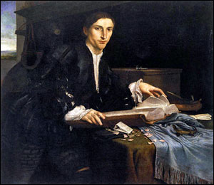 Lorenzo Lotto. Portrait of a Young Gentleman in his Study, c1527