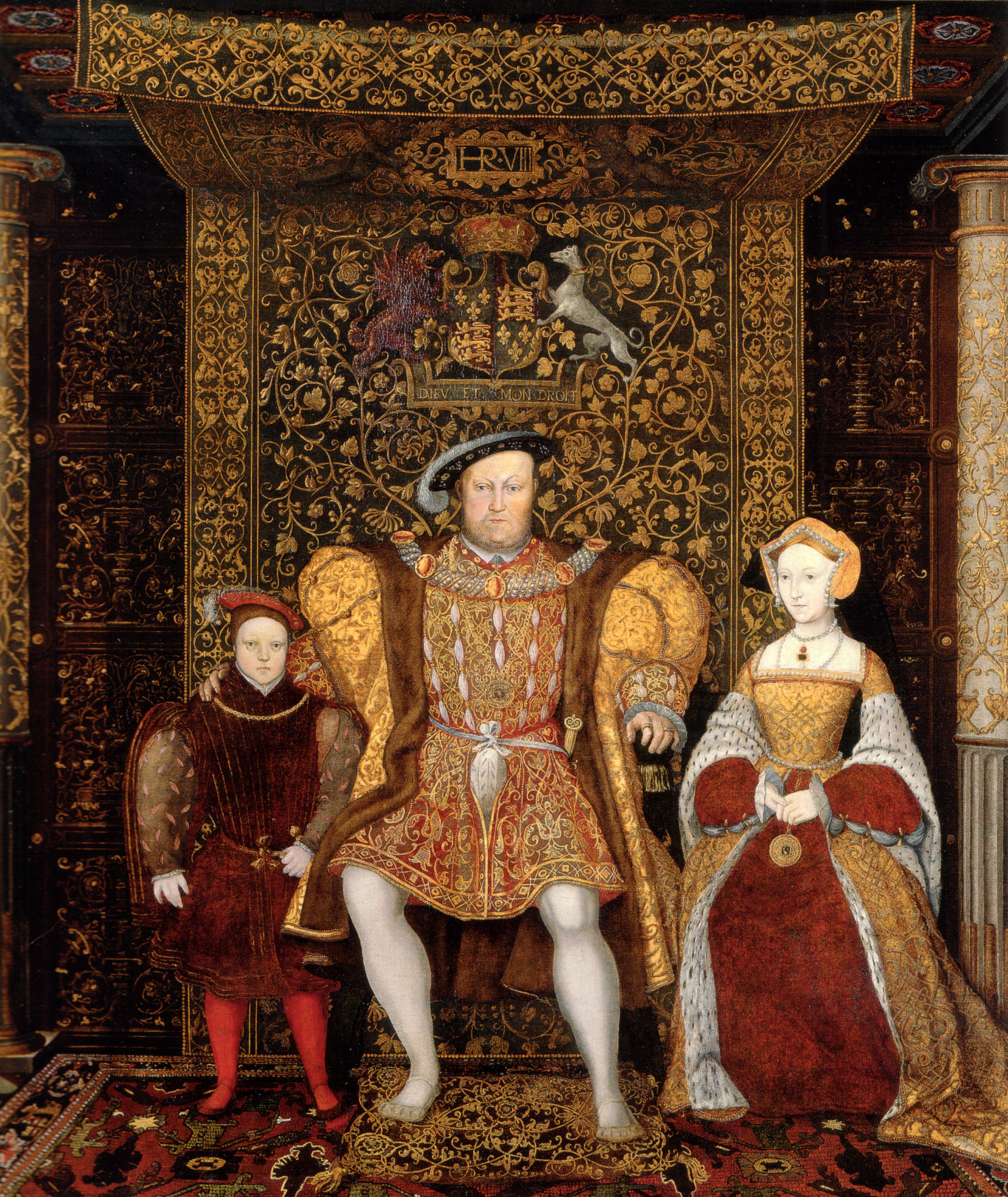Detail from the family of henry viii c 1545