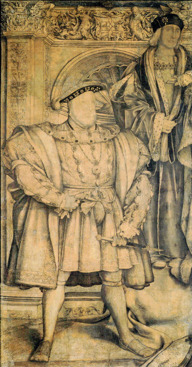 Portraits Of King Henry Viii The Whitehall Mural And Fulllength  King Henry Viii By Hans Holbein Cartoon For The Whitehall Mural National  Portrait Gallery