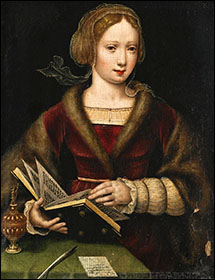 Antwerp school. Lady with a book, c1530-40.
