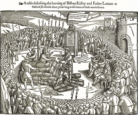 Burning of Ridley and Latimer, from Foxe's Book of Martyrs
