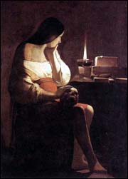 Georges de La Tour. Magdalen of Night Light. 1630-35.