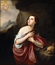 Copy of Bartolomé Esteban Murillo's 'Penitent Magdalen' 17th century.