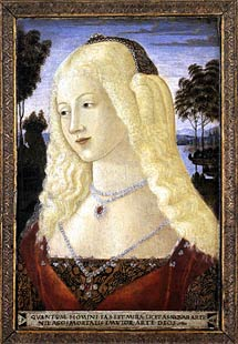 Neroccio. Portrait of a Lady, 1490.