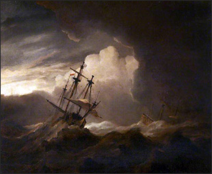 BWillem van de Velde the Younger, Ships in a Storm