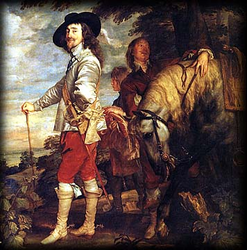 Sir Anthony van Dyck. Charles I on Horseback. c. 1635.