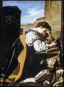 Domenico Fetti. Melancholy, c1620. Galleria dell'Accademia, Venice.