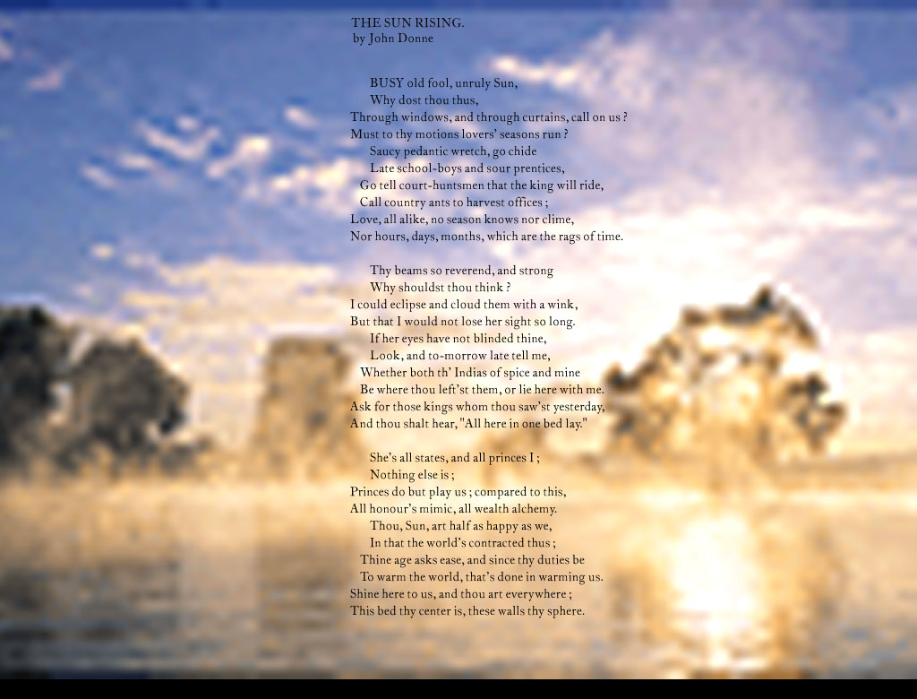 john donne poetry for the desktop donne 1