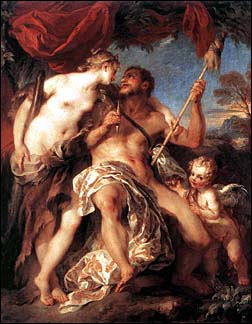 Francois Lemoine. Hercules and Omphale, 1724.