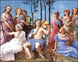 Raphael. Mount Parnassus. c1510.