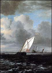 Jacob van Ruisdael. Rough Sea, Detail. 1670.