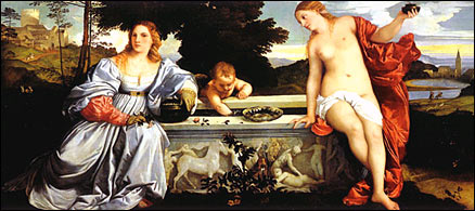Titian. Sacred and Profane Love