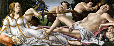Sandro Botticelli.  Venus and Mars, 1483.
